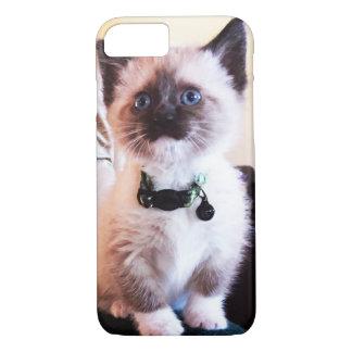 Adorable Masked Blue Eyed Siamese Kitten Photo iPhone 8/7 Case