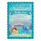 Adorable Mermaid Baby Shower Invitations 130 Light