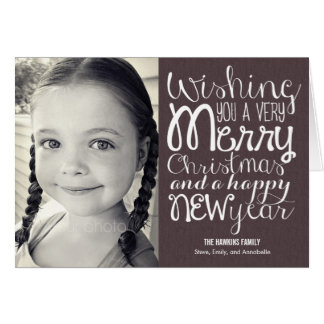 Adorable Message Christmas Photo Card