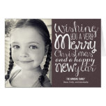 Adorable Message Christmas Photo Card Cards