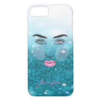 Adorable Modern,Glitter,Face Silhoutte-Personalize iPhone 8/7 Case