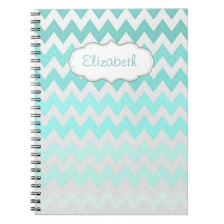 Adorable Ombre, Zigzag ,Chevron-Personalized Notebook
