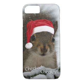 Adorable Original Santa Squirrel in Snow iPhone 8/7 Case
