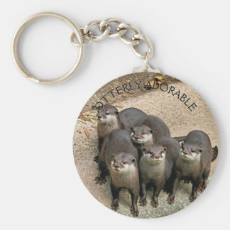 Adorable Otters Nature Photo for Animal Lovers Key Ring