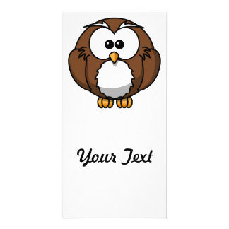 Adorable Owl Cartoon Art Photo Card