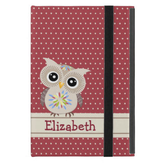 Adorable Owl in Polkadots Powis iPad Mini Case