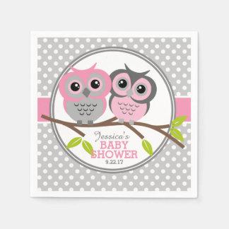 Adorable Owls Baby Shower Disposable Serviette