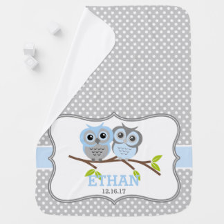 Adorable Owls Personalized Baby Blanket