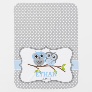 Adorable Owls Personalized Pramblankets