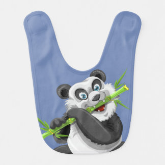 Adorable Panda Eat Meal Bamboo Bib