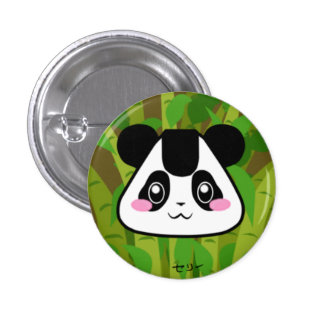 Adorable Panda Rice Ball Button