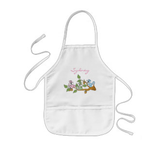 Adorable Pastel Colored Squirrels | Personalize Kids Apron