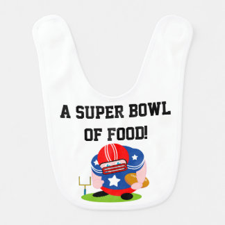 Adorable patriotic American football player design Bib