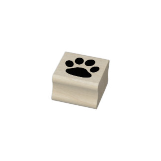 Adorable Paw Print 1 Inch Ink Stamp