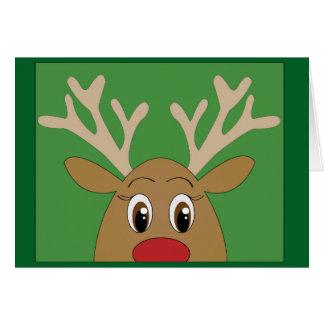 Adorable Peekaboo Reindeer Christmas Card