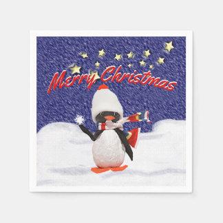 Adorable Penguin Ornament Christmas Paradise Paper Napkin