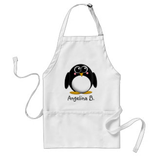 Adorable Penguin Personalized Apron