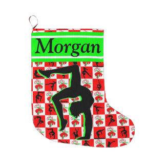 ADORABLE PERSONALIZED GYMNAST CHRISTMAS STOCKING