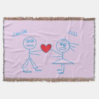 Adorable Personalized Stick Figure Couple in Love
