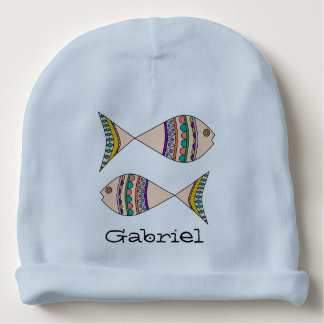 Adorable Personalized Swimming Fish Design Baby Beanie