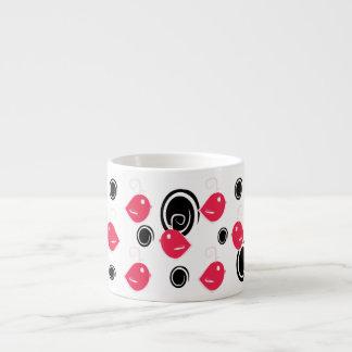 adorable pink baby birds pattern espresso cup