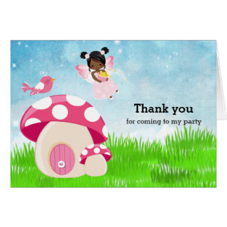Adorable pink fairy card
