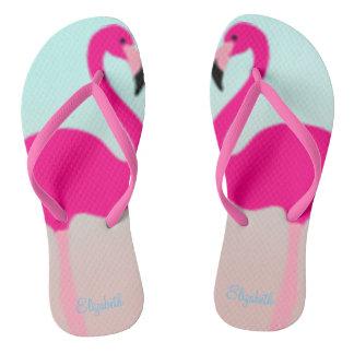 Adorable Pink Flamingos In Love Thongs