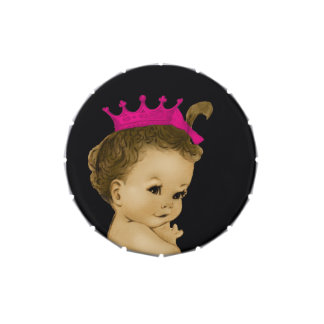 Adorable Pink Princess Baby Shower Candy Candy Tin