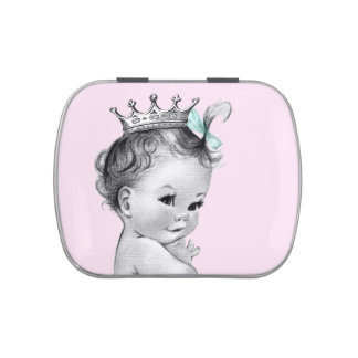 Adorable Pink Princess Baby Shower Candy Candy Tins
