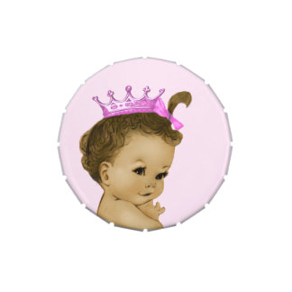 Adorable Pink Princess Baby Shower Candy Jelly Belly Tin