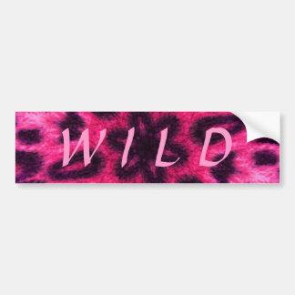 Adorable Pink Spotted Leopard Kaleidoscope Bumper Sticker