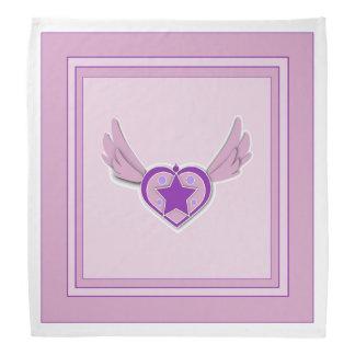 Adorable Pink Wings and Heart Bandana