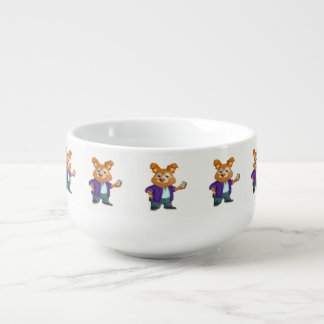 Adorable playful Cartoon dog student in a suit #1w Soup Mug