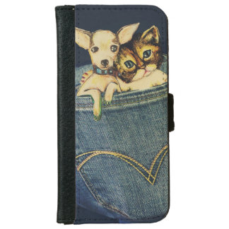 Adorable Pocket Puppy And Kitty Cell Phone Case