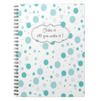 Adorable Polka Dots Pattern Notebooks