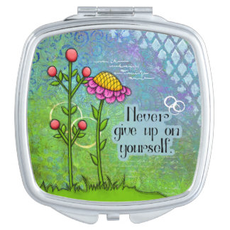 Adorable Positive Thought Doodle Flower Mirror