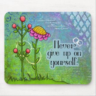 Adorable Positive Thought Doodle Flower Mousepad