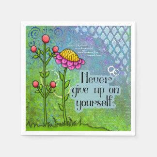 Adorable Positive Thought Doodle Flower Napkin Disposable Napkin