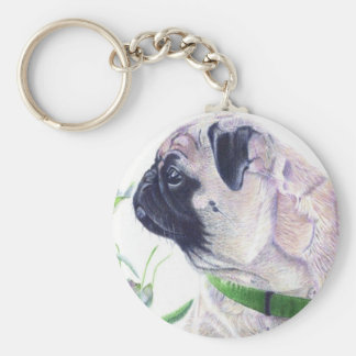 Adorable Pug Dog Key Chain