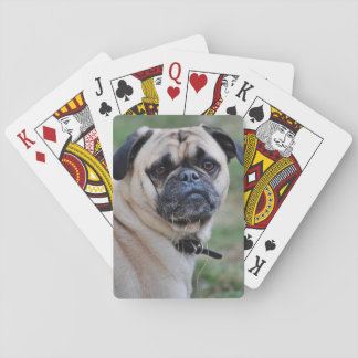 Adorable Pug Poker Cards