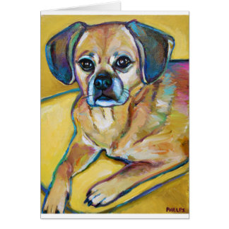 Adorable PUGGLE Card