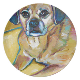 Adorable PUGGLE Plate