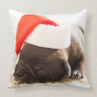 Adorable Puppy Christmas Cushion