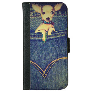 Adorable Puppy In Pocket Cellphone Flip Cover Case