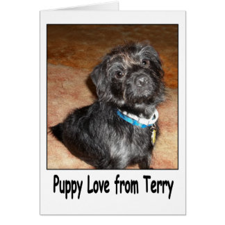 "Adorable ""Puppy Love From Terry"" Card"