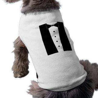 Adorable Puppy Tuxedo Shirt Sleeveless Dog Shirt