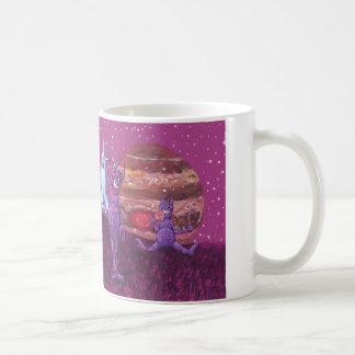 Adorable Purple Cyclops's and Cows on Europa Classic White Coffee Mug