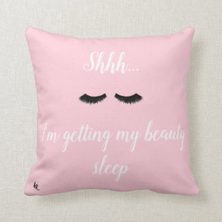 Adorable Quote Cotton Throw Pillow by Lili Rosie