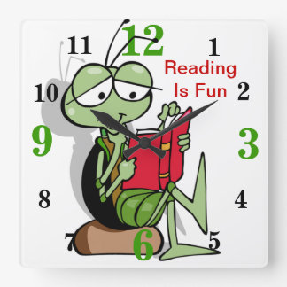 Adorable Reading Is Fun Clock For Kids