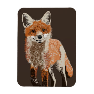 Adorable Red Fox Painting Photo Magnet